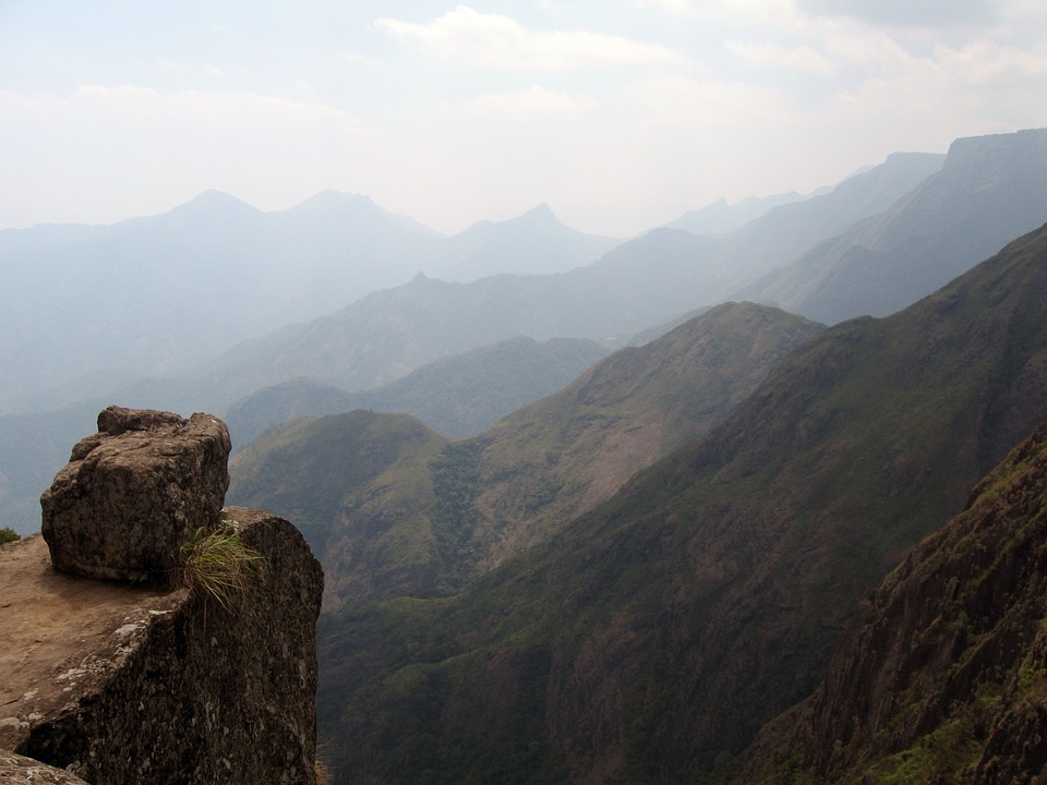 Mountain, Cliff, View, Rock