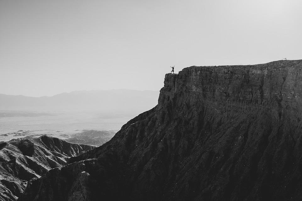 Mountain, Cliff, Person, Rock, Climbing, Adventure