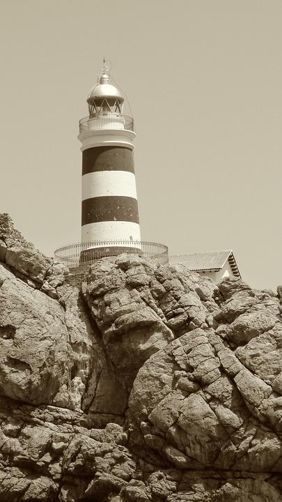 Lighthouse, Cliff, Rock, Mallorca