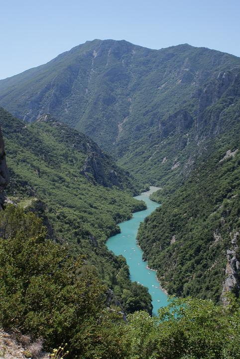 Gorges, Verdon, South Of France, Green, Cliff