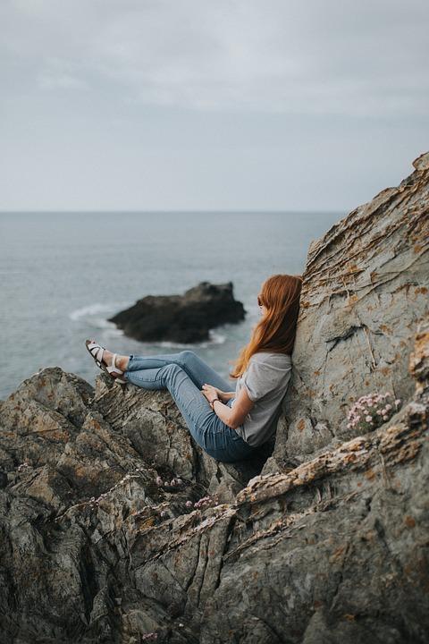 Sea, Ocean, Water, Waves, Nature, Rocks, Hill, Cliff