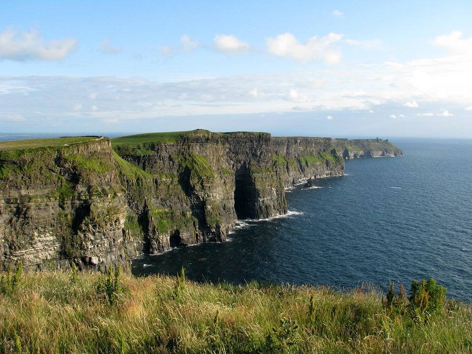Ireland, Cliffs, Moher, Coast, Landscape
