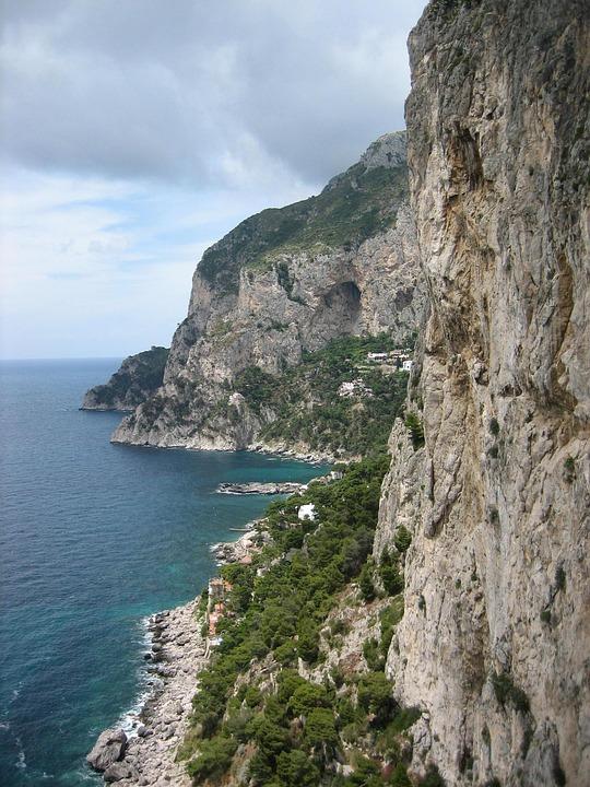 Capri, Cliffs, Sea, Island