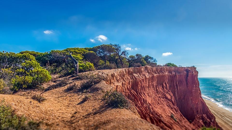 Algarve, Cliffs, Nature, Landscape, Sky, Panoramic