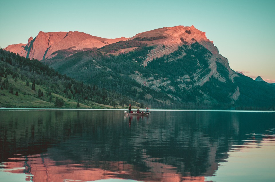 Boat, Lake, Water, Reflection, Mountains, Hills, Cliffs