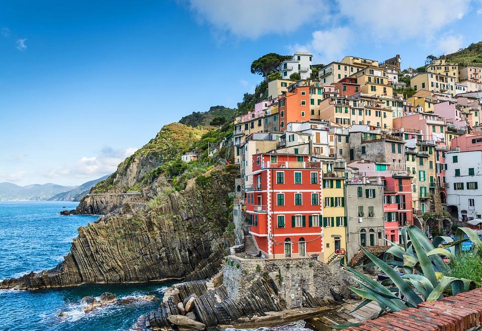 Coastal, Village, Sea, Cliffs, Steep, Tower House