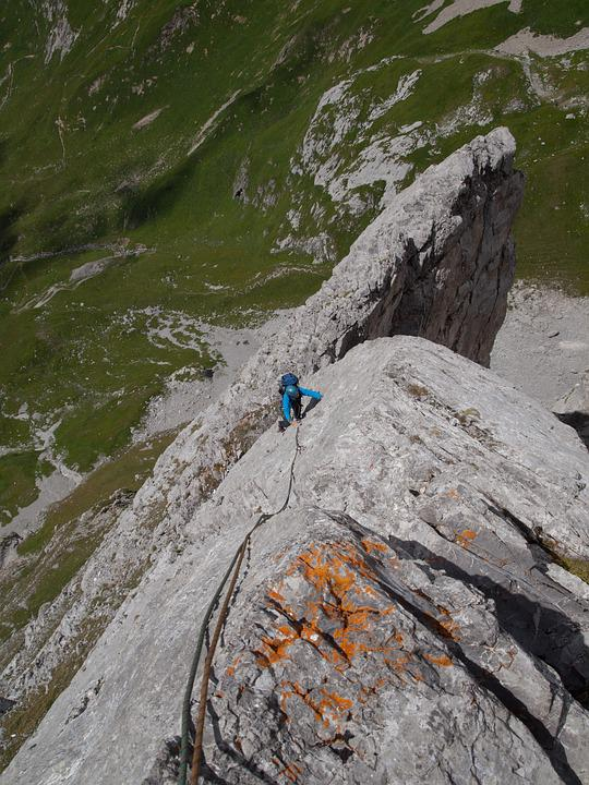 Climb, Rock, Mountains, Alpine, Roggalspitze