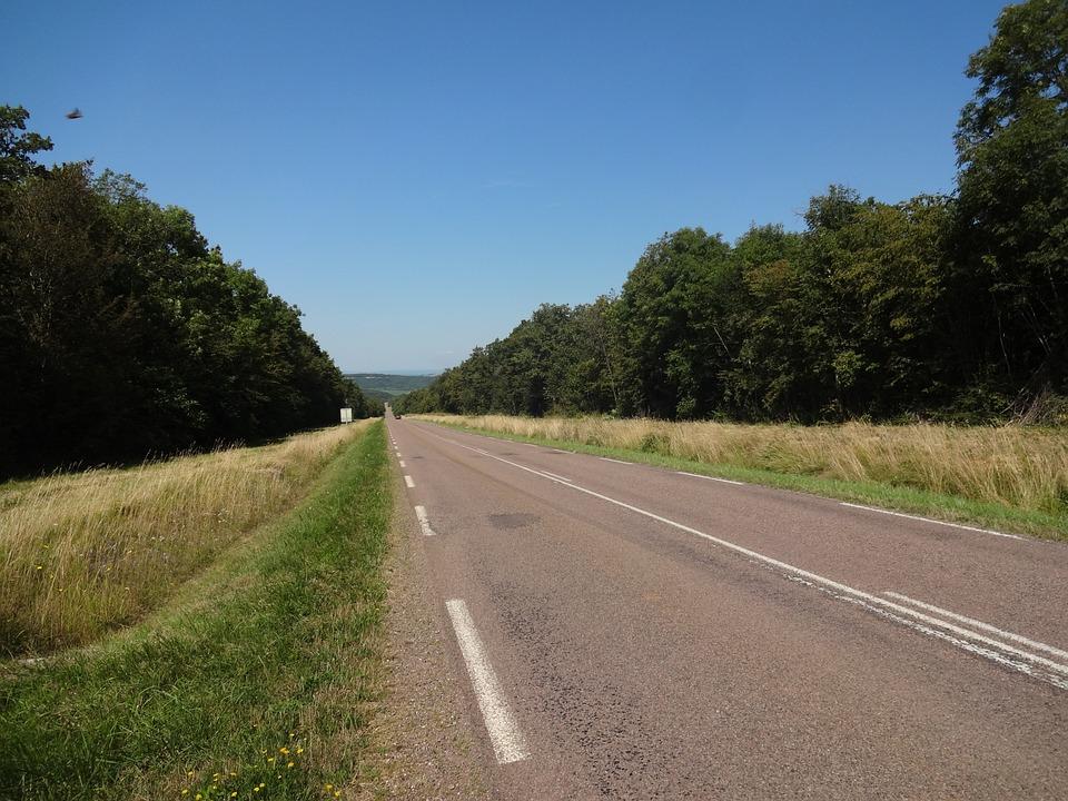 Road, Field, Climb, Landscape