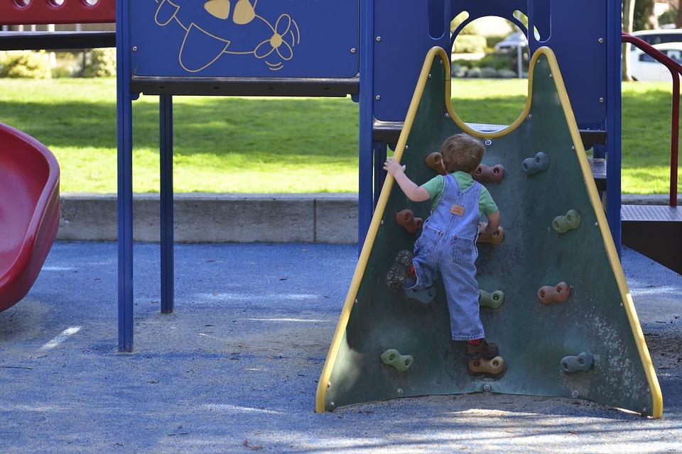 Playground, Boy, Fun, Kid, Park, Climb, Toddler
