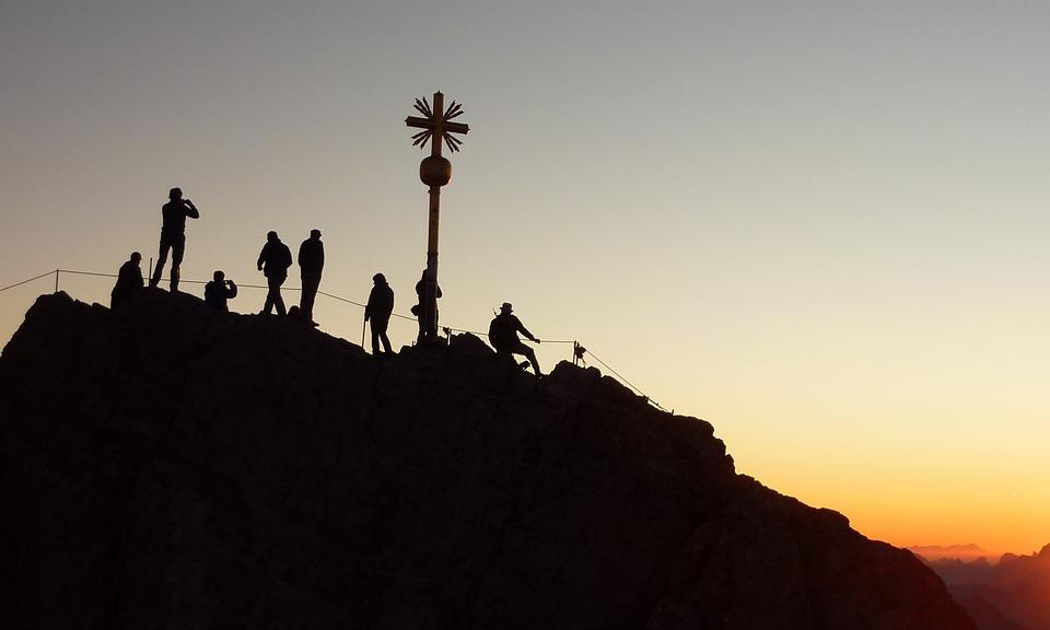 Mountaineer, Sunrise, Shadow Play, Climber, Climb
