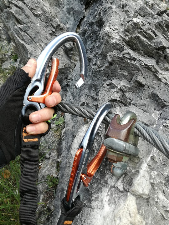 Security, Equipment, Carbine, Via Ferrata Set, Climbing