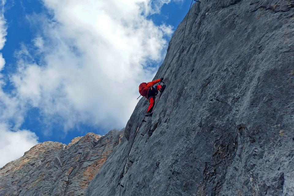 Via Iron Port, Rock, Mountains, Steep, Climbing, Alpine