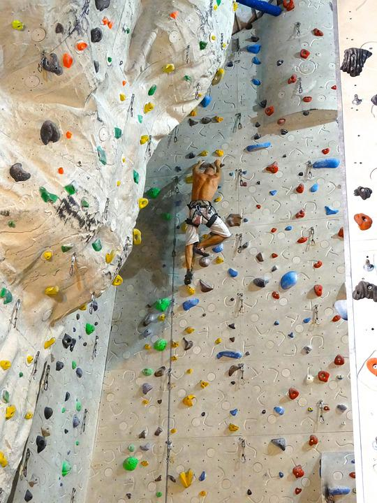 Climb, Climbing Wall, Sport, Climbing Holds, Climber
