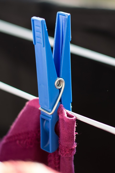 Clothes Peg, Laundry, Clip, Spring, Terminal, Dry