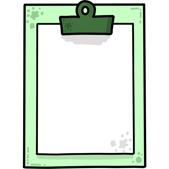Clipboard, Paper, Survey, Questionnaire, Bulldog Clip