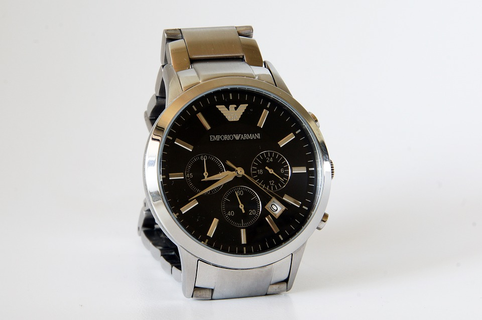 Clock, Time, Armani Men's Watches, Fashion, Goods