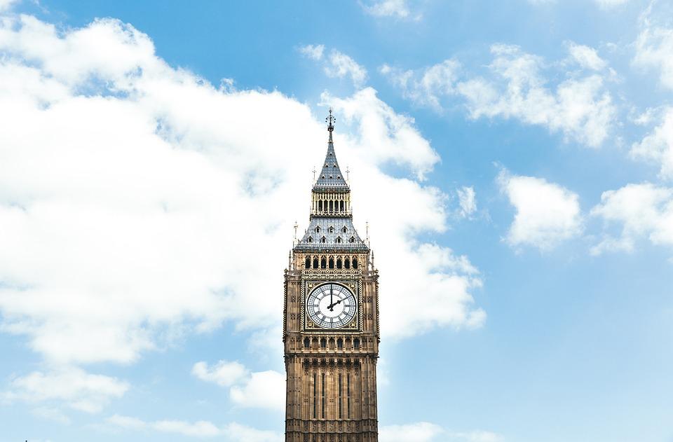 Architecture, Big Ben, Building, Clock, Clouds, Sky