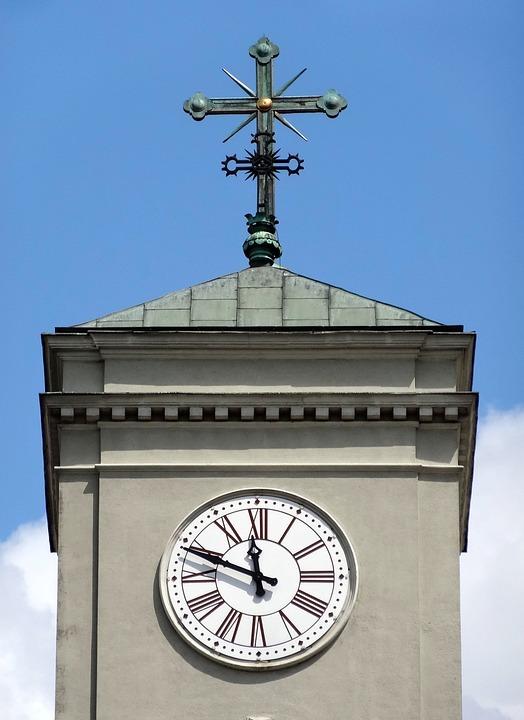 Clock, Cross, St Peter's Basilica, Vincent De Paul
