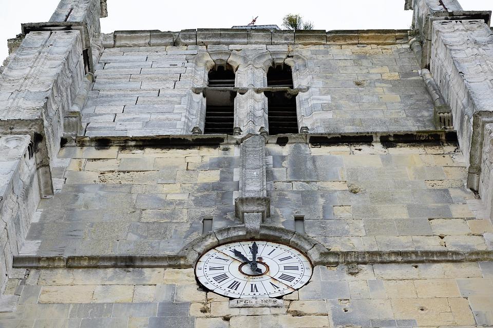 Clock, Church, Le Havre, Facade