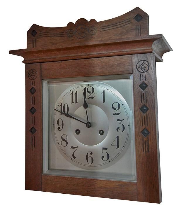 Clock, Oak, Dial, Silver, Clock Face, Pointer, Time