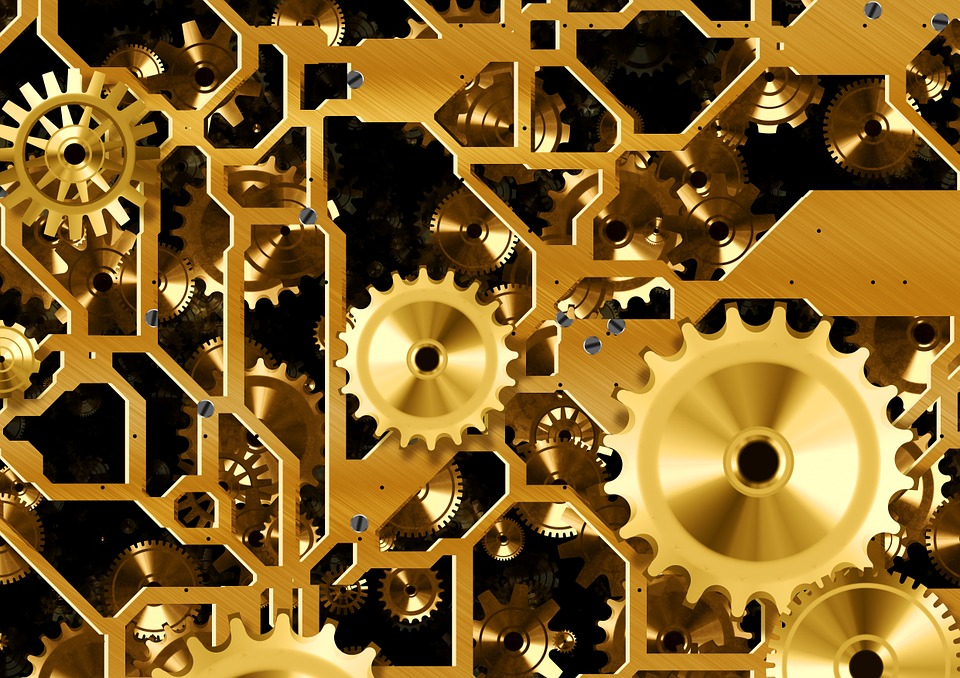 Clock, Time, Gear, Gears, Blue, Way Of Thinking