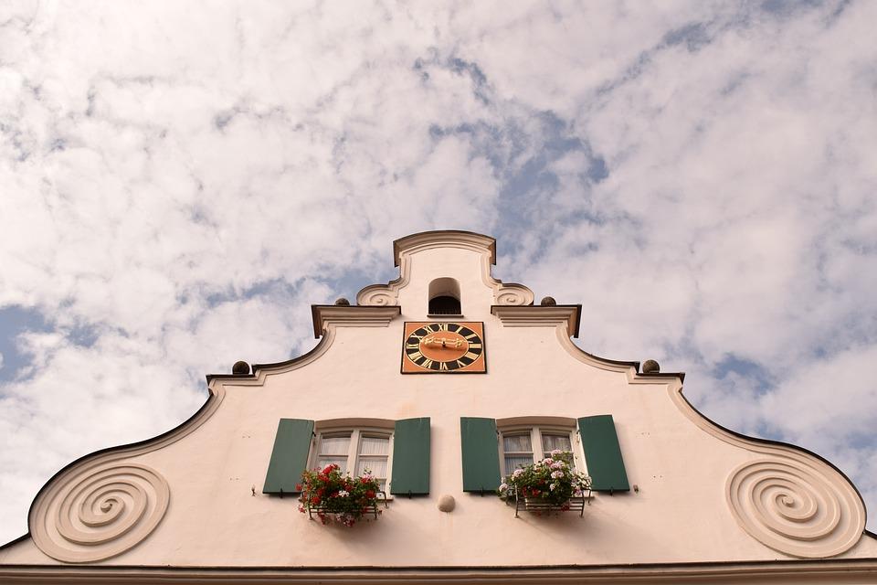 Hausgiebel, Sky, Historically, Clock, Rathhausuhr