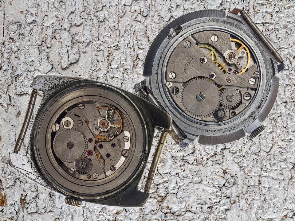 Clock, Movement, Mechanically, Macro