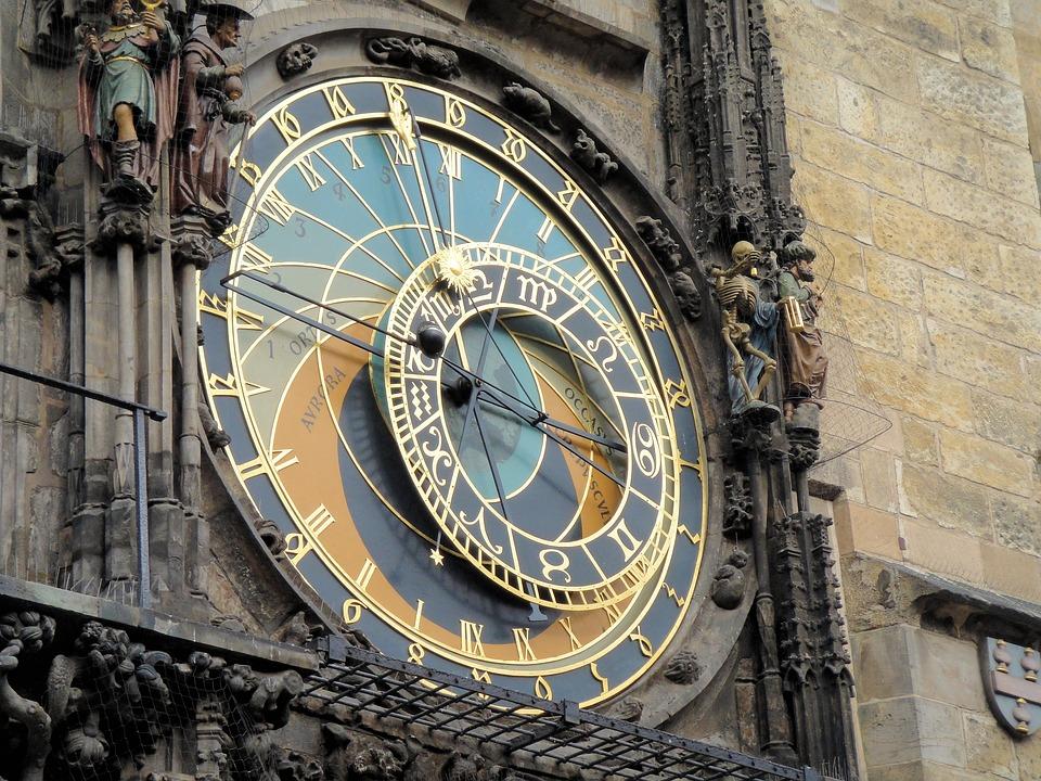 Prague, Clock, Astronomical Clock, Moon Phases