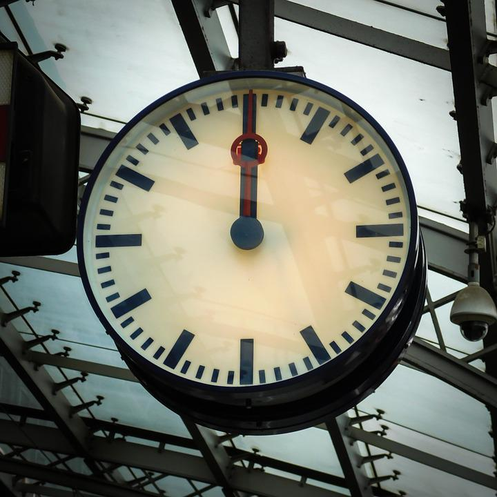 Clock, Railway Station, Station Clock, Time, Platform