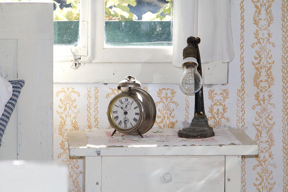 Clock, Alarm Clock, Bedroom, Lamp, Table Lamp