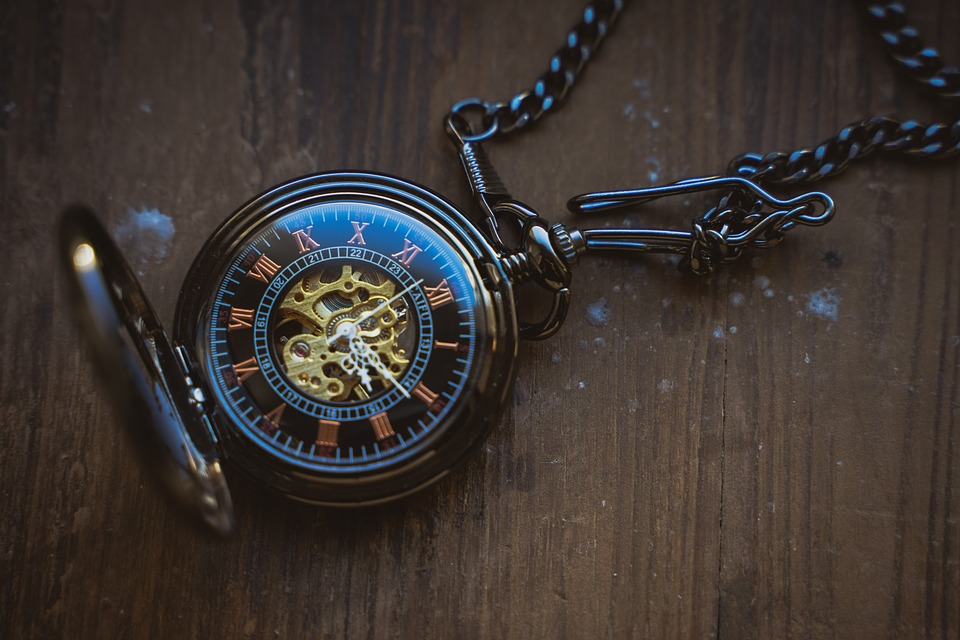 Pocket Watch, Clock, Time, Antique, Old, Time Of