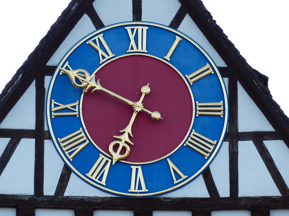 Clock, Time Of, Clock Face, Time Indicating, Blue