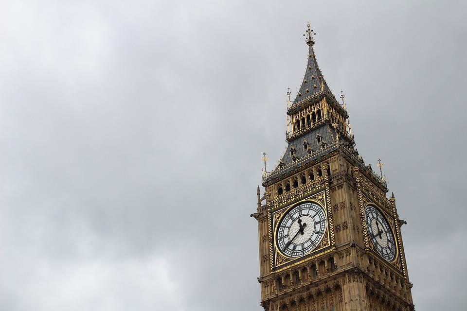 Big Ben, Clock Tower, Landmark, Tower, Sky, Clouds