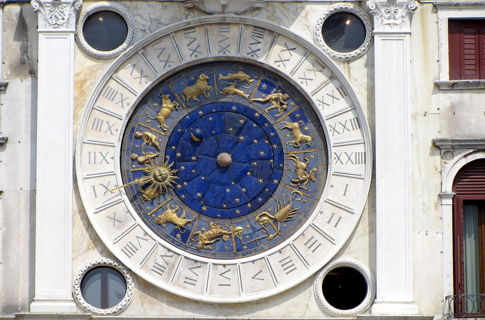 Venice, Italy, St Mark's Square, Clock, Astrology