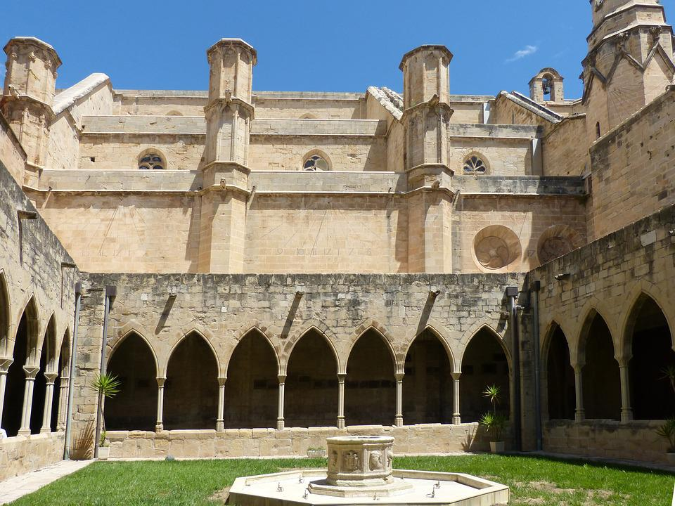 Cloister, Gothic, Cathedral, Tortosa, Arc