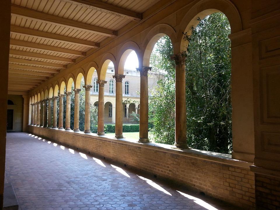 Arcade, Cloister, Architecture, Columnar, Stone Pillars