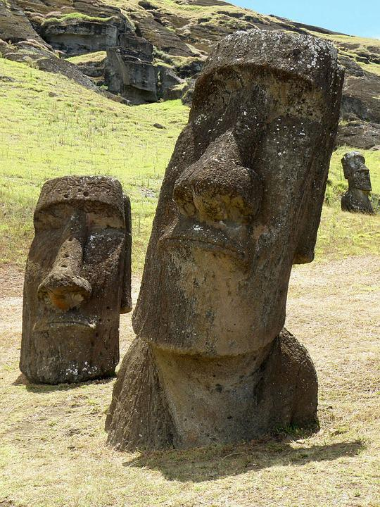 Easter Island, Stone Figure, Close