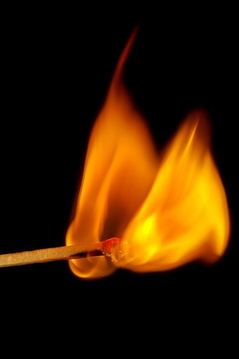 Match, Fire, Close, Burn, Matches, Kindle, Flame, Macro