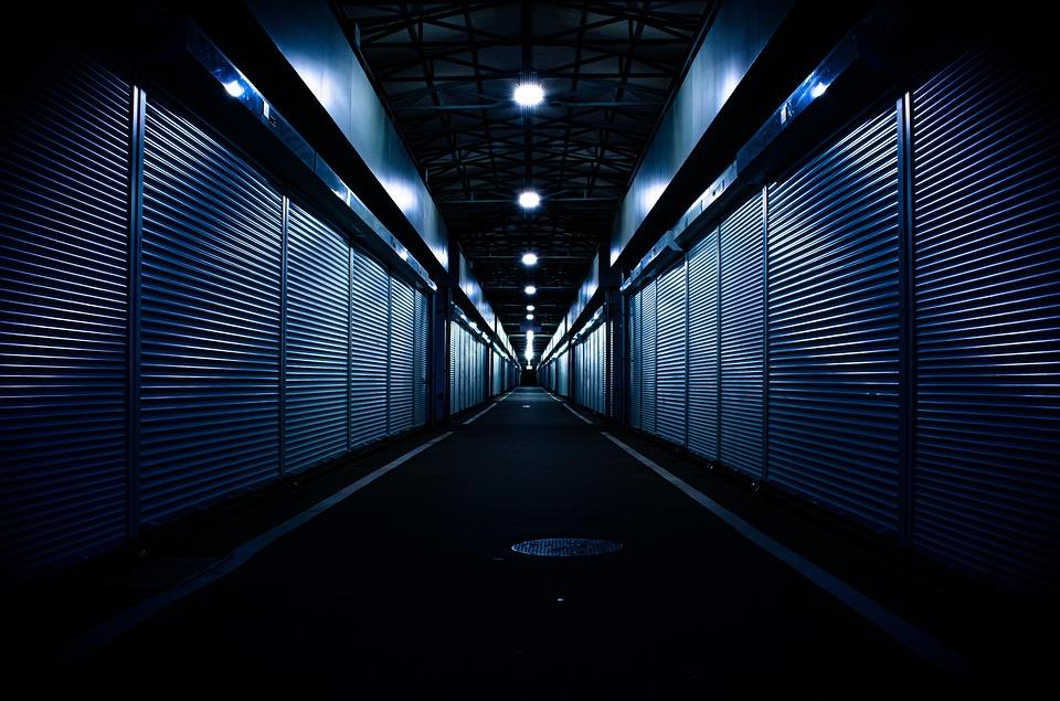 Rollup, Dark, Close, Mood, Architecture, Market, Night