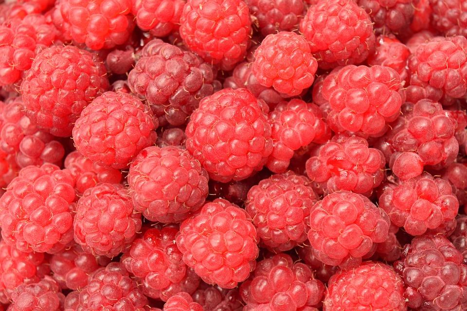 Raspberries, Close, Background, Fruit, Red, Sweet