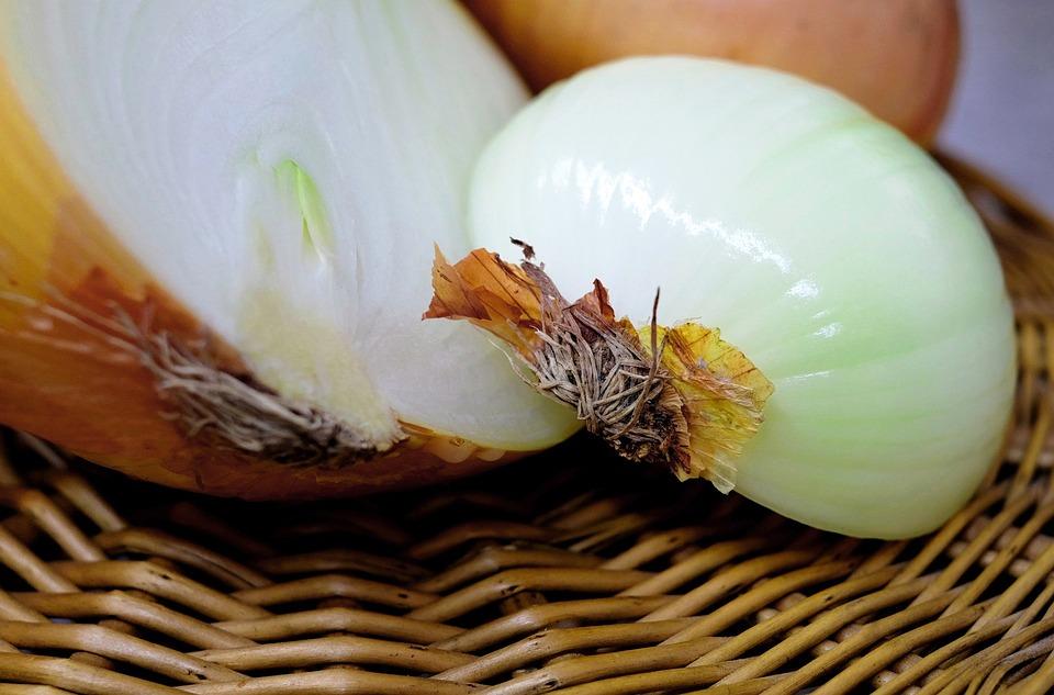 Onion, Half, Raw, Food, Close