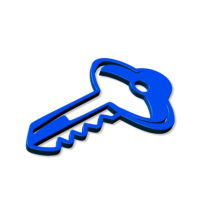 Key, Close, Close To, Lock, Shut Off, Blue, Security
