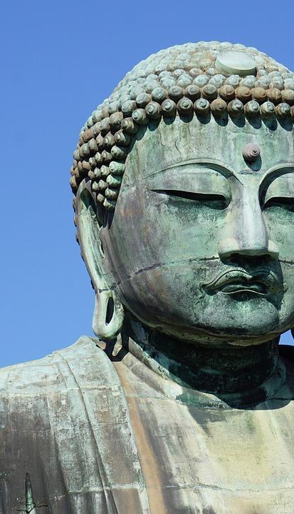 Buddha, Big Buddha, Japan, Close Up, Asia, Travel