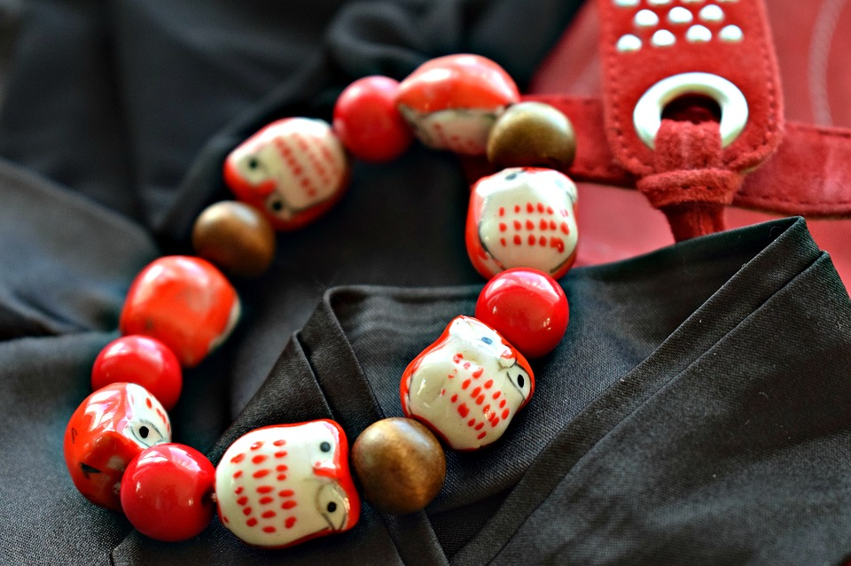 Bracelet, Jewelry, Red And Black, Close Up, Macro