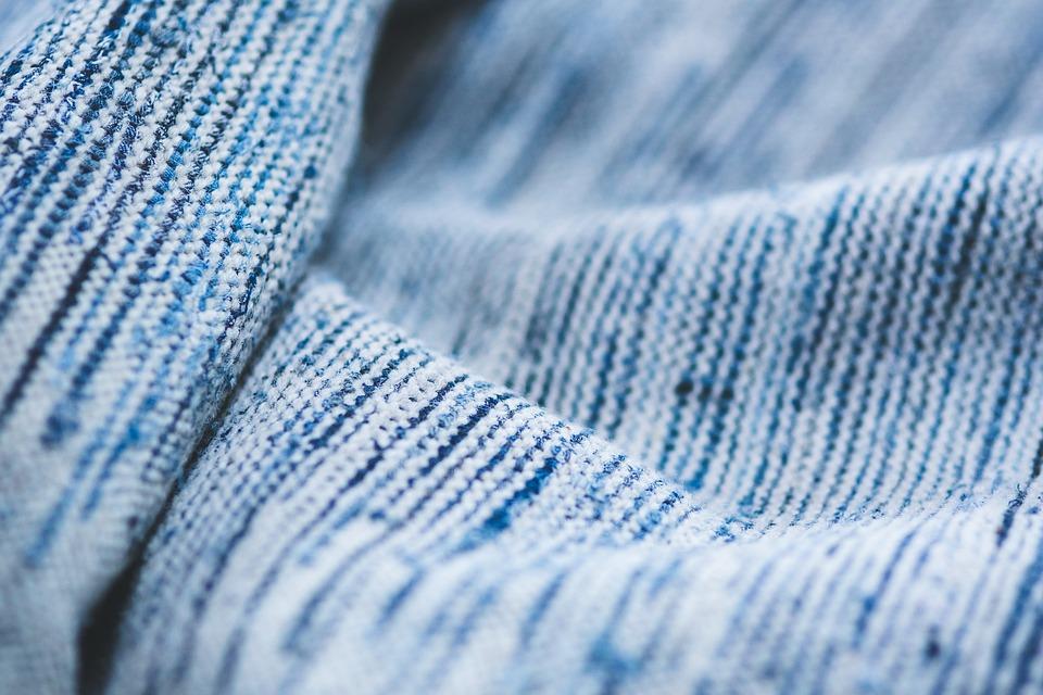 Blue, Textile, Background, Close Up, Closeup, Fabric