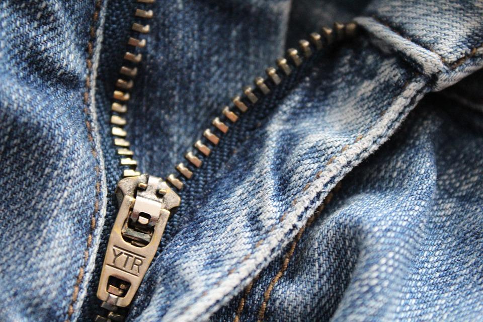 Zip, Jeans, Clothing, Close Up, Metal, Fashion, Pants