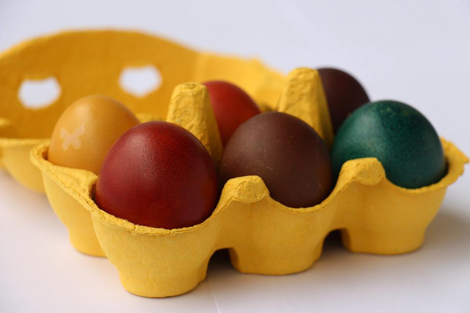 Food, Colored, Close Up, Easter Eggs