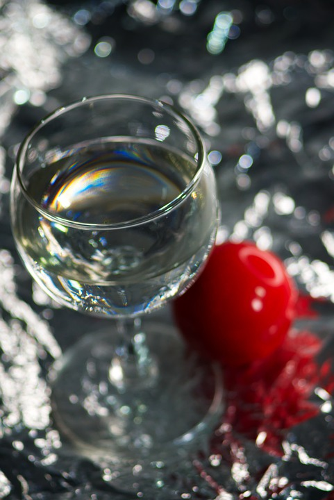 Glass, Water, Red, Wine Glass, Close Up
