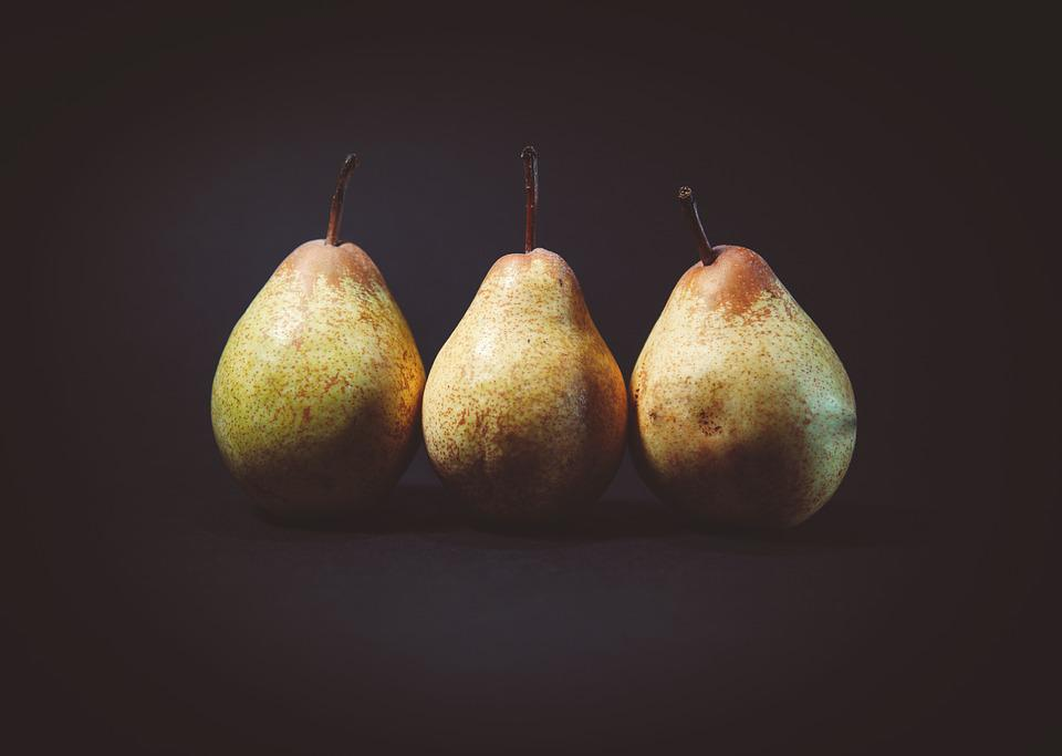 Close-up, Pears, Fruits, Delicious, Food, Healthy