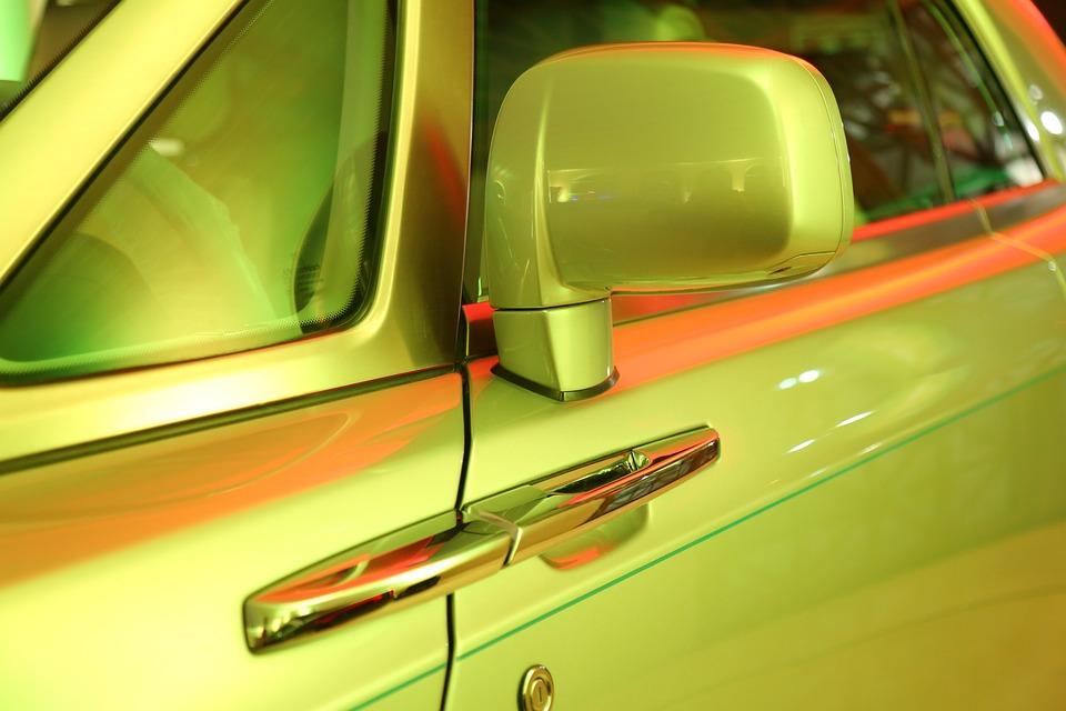 Car, Handle, Car Door, Mirror, Close-up